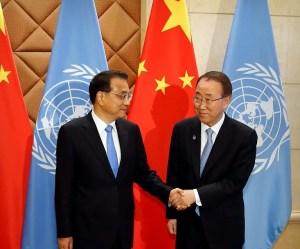 Ban Ki-moon et Li Keqiang