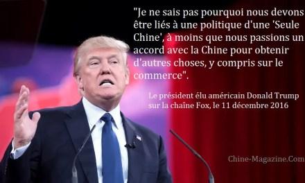 Remise en cause du principe d'une «seule Chine»