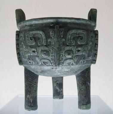 Un exemple de vase Ding datant des Shang tardifs.