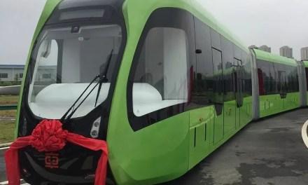 Création chinoise du premier train sans rail au monde