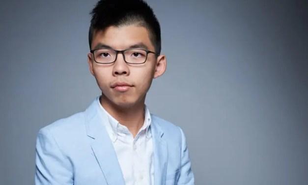 Joshua Wong en visite à Berlin