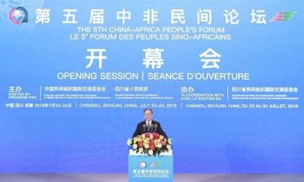 Ouverture du 5ème Forum des peuples africains et chinois