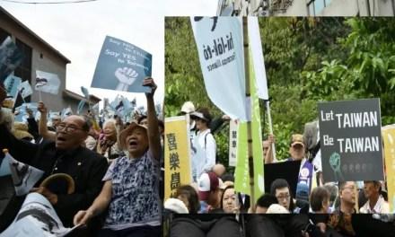 Des milliers de taïwanais dans la rue