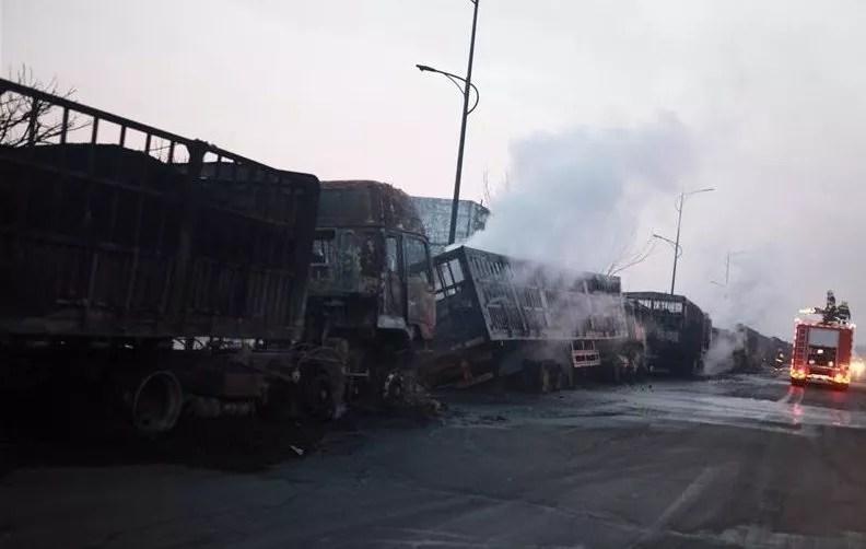 Explosion dans une usine chimique de Zhangjiakou