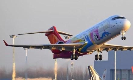 Le premier avion de ligne régional réussit son vol international