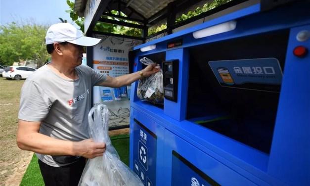 Une banque de déchets installée à Wenchang