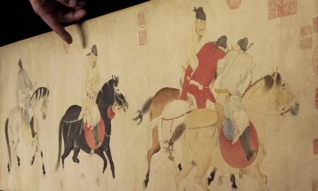 Le rouleau «Cinq princes ivres revenant à cheval» à vendre