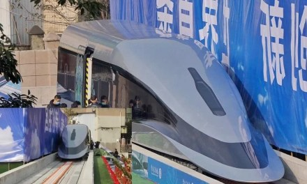 La Chine présente un prototype de train à sustentation magnétique