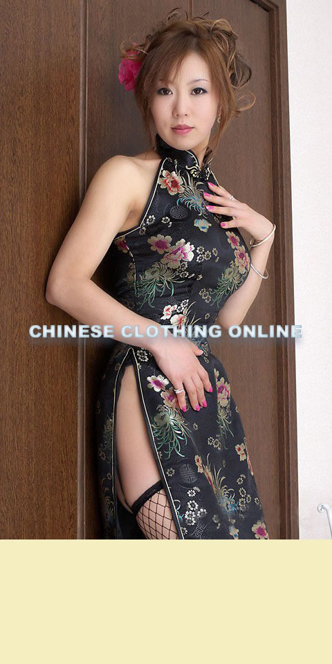 Cutin Shoulders Bareback High Slits Longlength Cheongsam