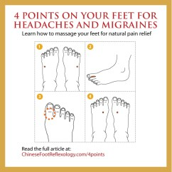 Pressure Points Diagram Massage Bosch 12v Relay Wiring 30a And 4 On Your Feet For Headaches Migraines