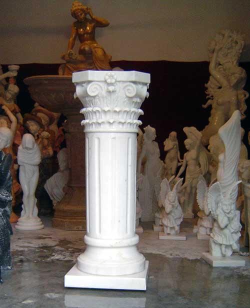 stacked stone kitchen backsplash antique sinks roman marble carved column/pillar for house building ...