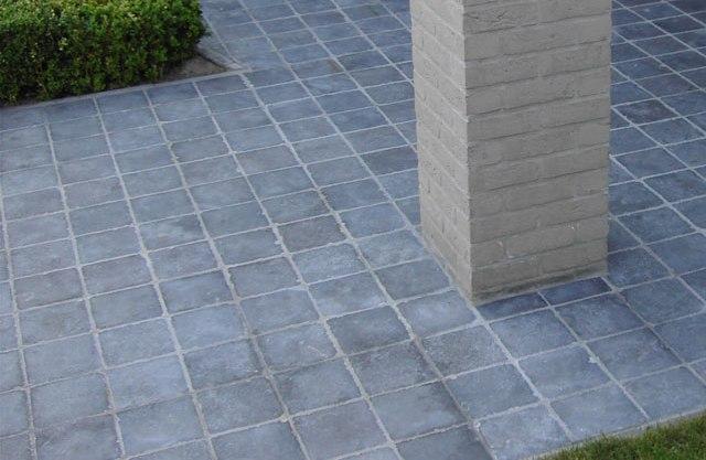 stacked stone kitchen backsplash cart with drawers tumbled bluestone cobblestone pavers tiles for driveway ...