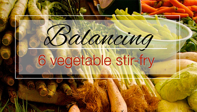 Detoxifying & Balancing 6 Vegetable Stir-Fry