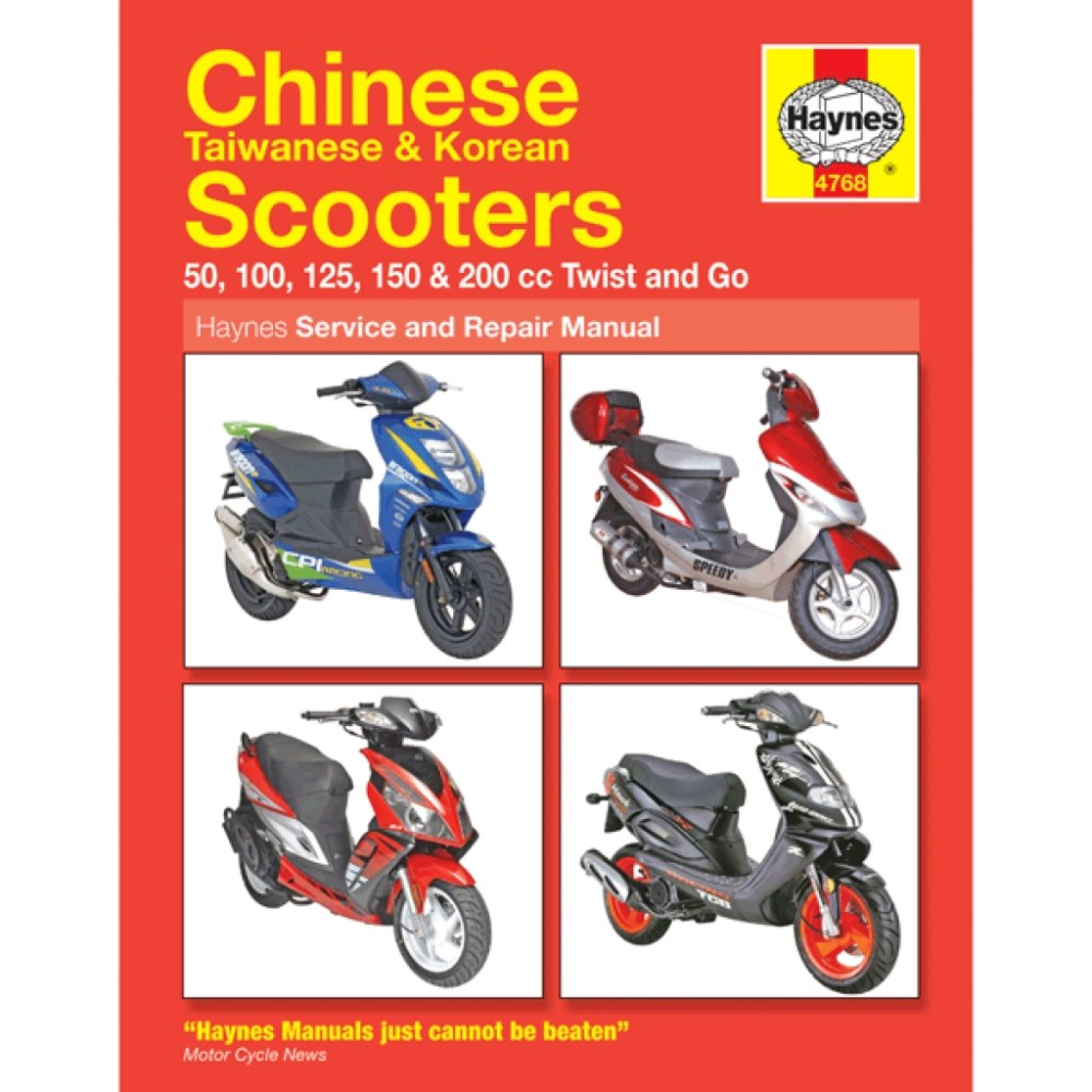 medium resolution of haynes chinese scooter service repair manual 4768 h4768 cmpo chinese motorcycle parts online