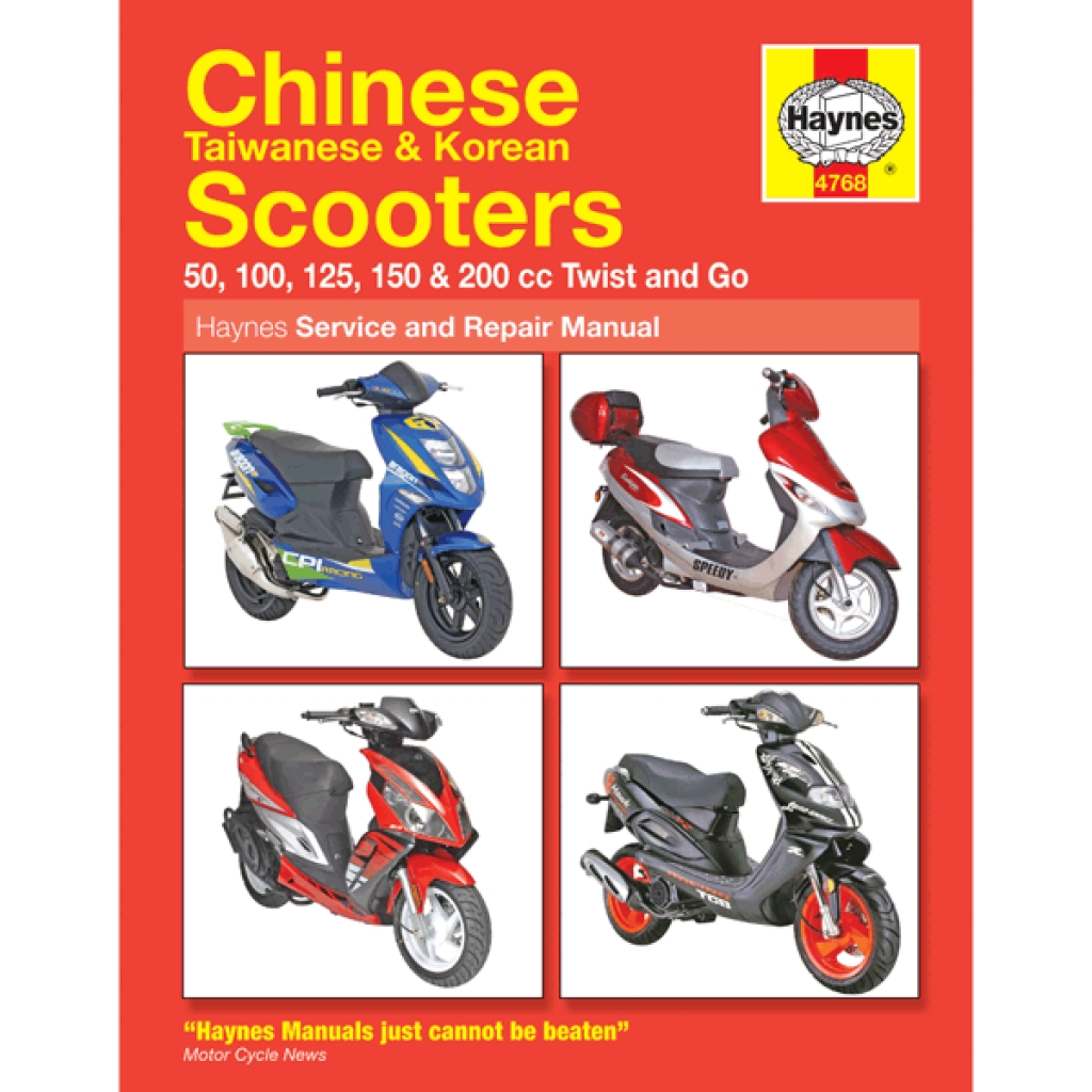 hight resolution of haynes chinese scooter service repair manual 4768 h4768 cmpo chinese motorcycle parts online