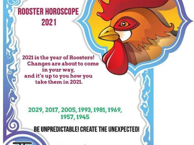 Year of the Rooster – 2021 Horoscope & Luck Predictions