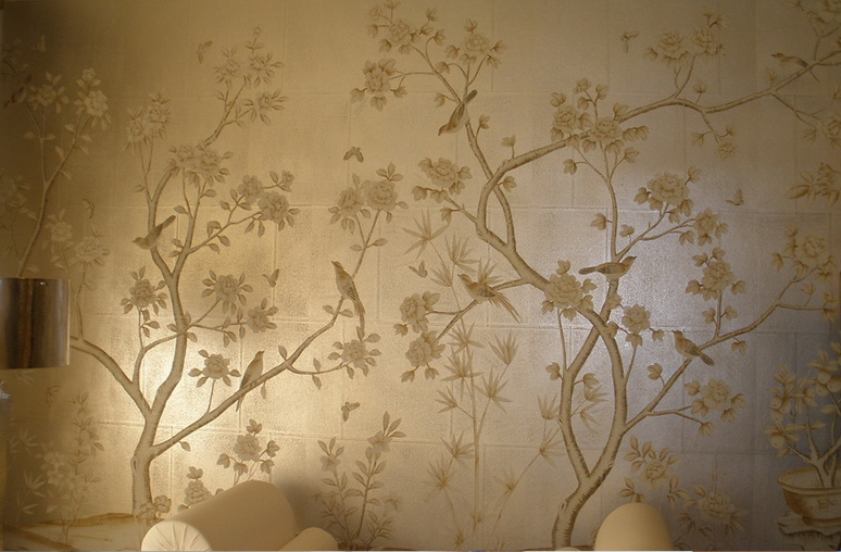 hand painted wallpaper silk wallpaper china wallpaper