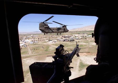 CH-47 helicopters at work in Iraq