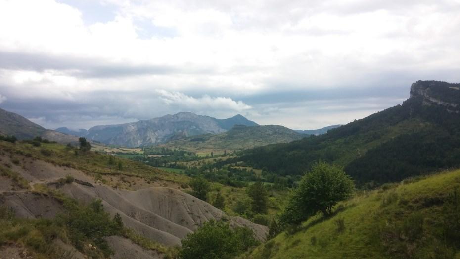 Paesaggio montano poco prima dell'arrivo a Saint Geniez
