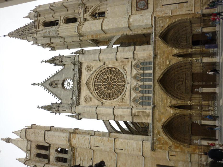 La facciata della Cattedrale di Leon