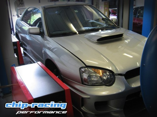 chip-racing subaru impreza sti auspufftest exhaust test
