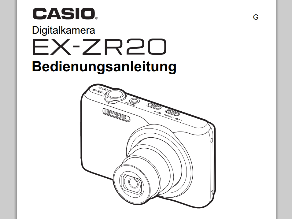 CASIO EXILIM BEDIENUNGSANLEITUNG PDF