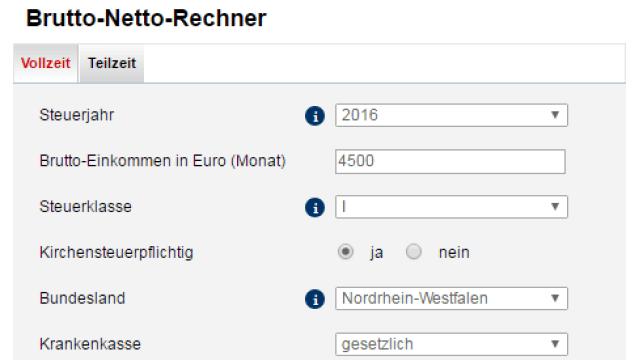 Brutto Netto Rechner 2018 Check fr den Lohn  CHIP