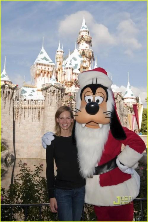 Hilary Swank at Disneyland