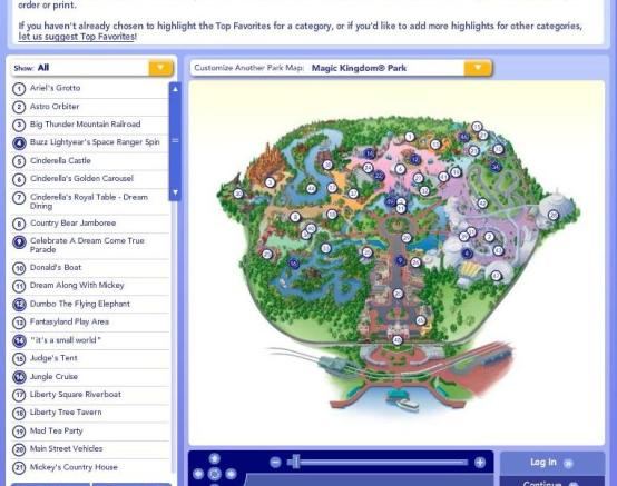 Make your own customized Disney World Maps