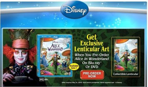 Walmart to offer Free Alice in Wonderland Art when you Pre-order 1