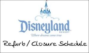 Disneyland refurbishment schedule September 2012 1