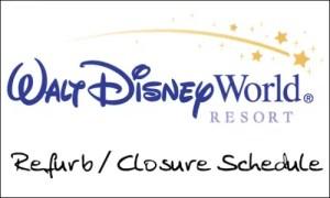 Disney World Refurbishment Schedule November 2012 1