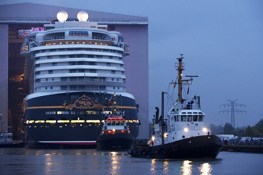 Photos: Disney Dream cruise ship makes first public appearance in Germany 1