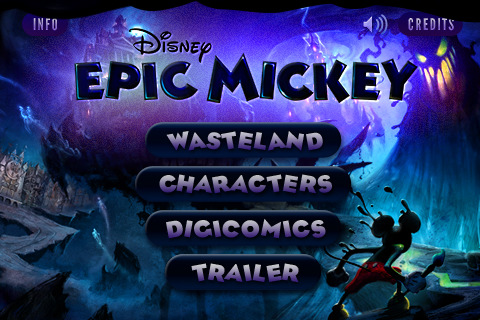 Free Epic Mickey App from iTunes