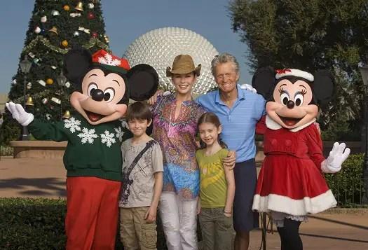 Catherine Zeta-Jones & Michael Douglas Drop by Walt Disney World 1