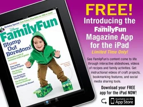 Disney FamilyFun Magazine Now Available on iPad 1