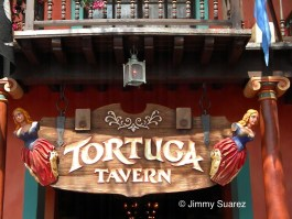 Adventureland's Tortuga Tavern sign, Magic Kingdom
