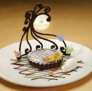 Warm Banana-Chocolate Torte with Vanilla Ice Cream-Citricos at Disney