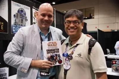 Star Wars author Jason Fry with Aljon Go at Star Wars Celebration VI