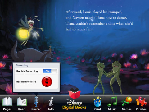 Princess and the Frog app