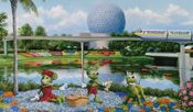 Mickey and minnie flower and garden art