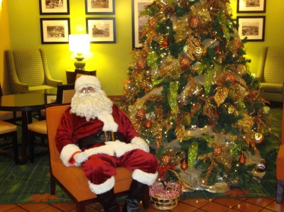 Santa Waiting For Disneyland Guests to Visit