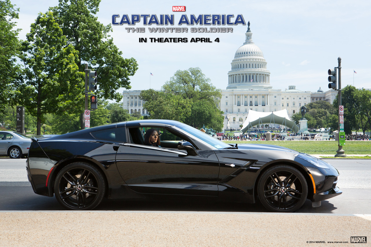 Chevy Teams up With Marvel to feature Black Widow's Corvette