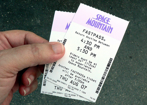 What a typical Fastpass looks like