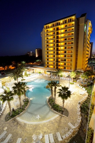 Holiday Inn Orlando - Lake Buena Vista -- exterior with pool -- Downtown Disney Resort Area Hotels