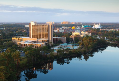 Wyndham Lake Buena Vista Resort -- aerial -- Downtown Disney Resort Area Hotels