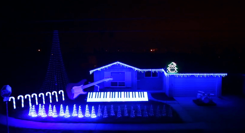 Perfect In Case You Missed This House On ABCu0027s The Great Christmas Light Fight Or  My Post Last Week Of Star Wars Christmas Light Show. Here Is Frozenu0027s Let  It Go In ... Design