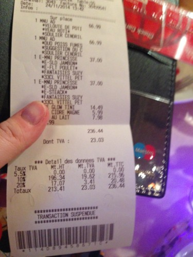 Eeek! That's in euros, too!
