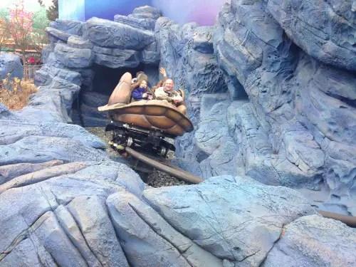 My husband and 10-year-old daughter ride Crush's Coaster backwards.