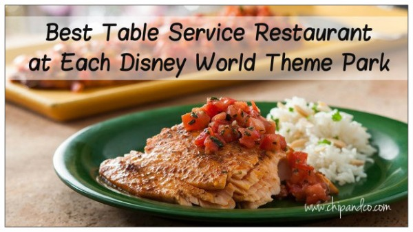 Best Table Service at Disney World Parks